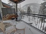 Relax on the private deck