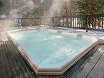 Outdoor hot tub at Key Condo