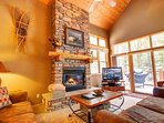 Beautiful vaulted ceiling and natural lighting