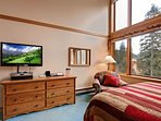 Cozy up and watch the flat screen or slopes!