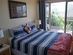 2nd bedroom has queen bed (5ft) and access to front balcony