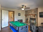 There's a pool, air hockey, and ping pong table, all in 1!