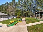 Head over to the community center for a round of putt-putt!