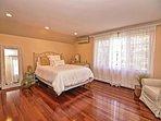 Bedroom 3: A pretty peach Queen bedroom.