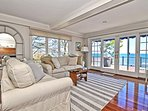 The living room has fantastic unobstructed ocean views.