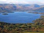 Beautiful Loch Lomond.  Five mins drive from house.