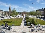 Helensburgh is a pretty town with shops, cinema and plenty of restaurants. This is the town square