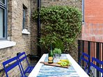 terrace adjacent to kitchen- ideal for breakfast