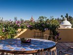 Rooftop terrace with view of La Parroquia