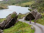 Cycling at the Gap of Dunloe.  Heather restaurant,  Coffee Pot Cafe & Kate Kearneys bar & restaurant