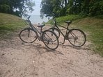 One of our many beaches close to us. Two of of bikes we can offer guests to enjoy during their stay