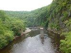 The Lehigh Gorge at the Glen Onoko