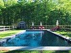 40 ft x 18 ft salt water pool