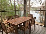 Table on Screened Porch