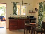 Cook a perfect meal in your well equipped kitchenette and dine In instead of out