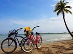 Map out your own   beach adventure with the complimentary bikes