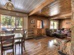 Beautiful wood interior provides a rustic yet stylish, cabin-like feel