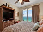 Great views from your master bedroom.  Flat screen TV and DVD player