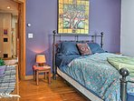 You'll find another queen bed in this second bedroom.