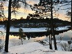 The beauty of winter in the Wisconsin Dells.
