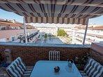 Preciosa vista desde la terraza del Ático a la Plaza de Las Infantas
