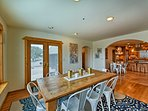Host formal family dinners around the dining table.