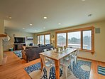 The interior is beautifully furnished and well-appointed to accommodate 10.