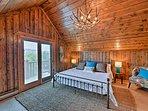 Wake up to sweeping alpine scenery on the balcony.