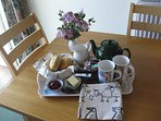 Delicious homebaking and a warm welcome awaits your arrival at Mungo's Well cottage at Burnbrae.