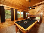 Pool Table in Loft