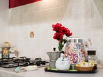 Kitchen: kettle, coffee machine, tea bags & more for your BREAKFAST