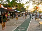 Stroll or bike along Tulum's main street (around the corner)