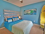 Bedroom 5 has a surf theme