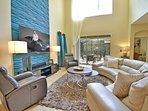 Two storey spacious family room