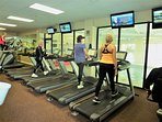 fitness center heated pool, aerobic equipment free with this rental