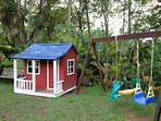 Playground and play house.
