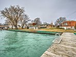 Enjoy access to Anchor Bay on Lake St. Clair from the dock.