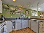 The expansive countertops make cooking a breeze.