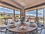 Dining Area with Patio Doors that Open Completely to Enjoy the Fresh Air and Beautiful Views