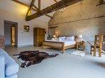 Huge beds, huge bedrooms, beamed ceilings - real wow-factor