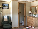 1/2 bath and room for a crib in Master Cabin.