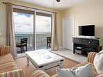 This amazing condo is on the 5th floor... low enough to hear the waves and high enough for a stunning view of the...