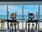 You'll want to put in extra time in the fitness center with beach views like this!