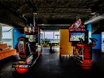In true Splash Resort style, even the game room has beach views