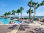 The beachfront pool is extraordinary