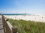 When you're ready to head to the beach, it's just steps away