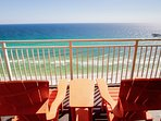 The view is stunning from the private balcony of the Master Suite