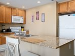 The gourmet kitchen is just the right size to create some delicious meals