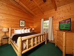 Upstairs Bedroom with King Bed and Full Bathroom