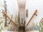 Check out this staircase! The house is filled with charming intricacies for your enjoyment.,